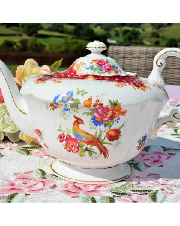 (OUT OF STOCK) PARAGON ROCKINGHAM RED TEAPOT