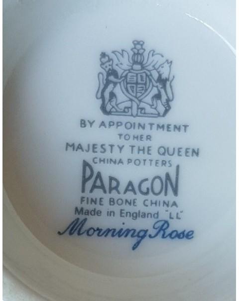 (SOLD) PARAGON MORNING ROSE TEA TRIO