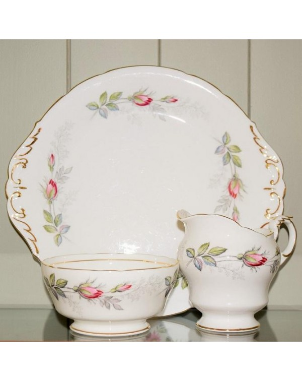 (OUT OF STOCK) PARAGON BRIDAL ROSE CAKE PLATE SET