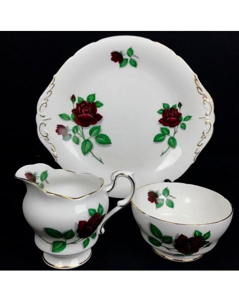 (SOLD) ROYAL STANDARD RED VELVET TEA SET