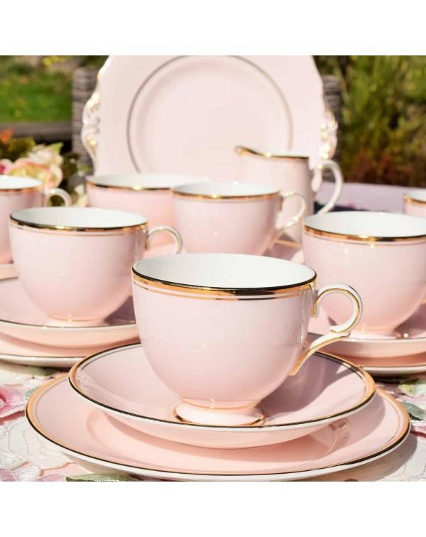 (SOLD) CANDY PINK ENGLISH VINTAGE TEA SET