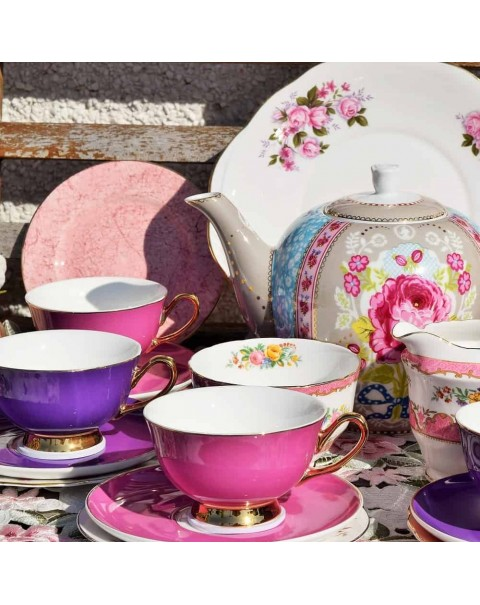 (OUT OF STOCK) HARLEQUIN TEA SET AND PIP STUDIO TEAPOT FOR 6