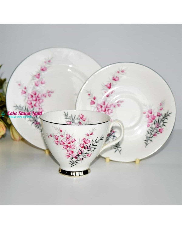 (SOLD) A ROYAL ALBERT PIXIE PINK TRIO Style 2