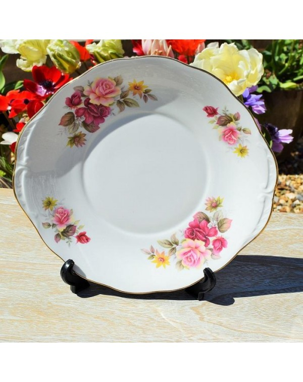 QUEEN ANNE ROSES CAKE PLATE