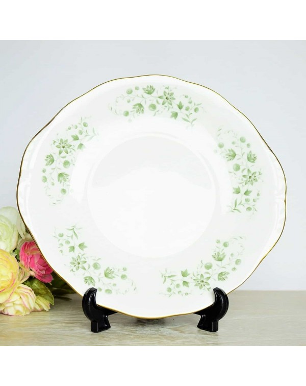 (SOLD) QUEEN ANNE FLORAL CAKE PLATE