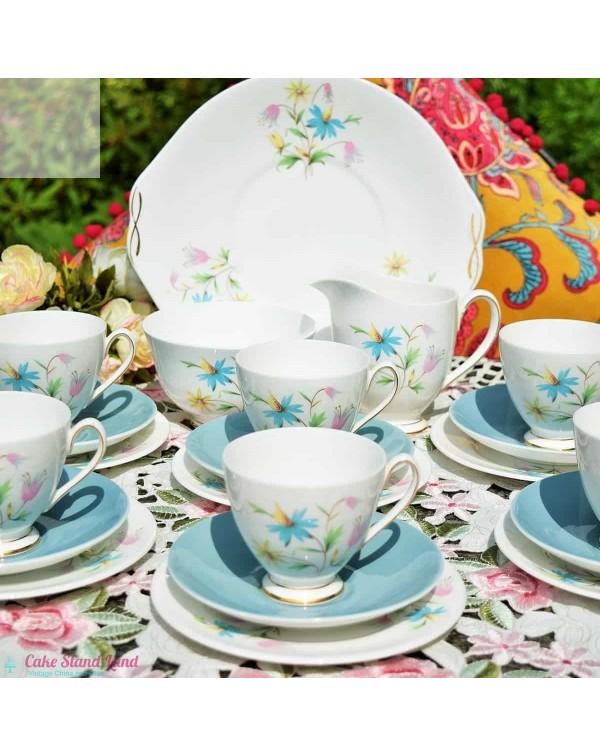 (SOLD) QUEEN ANNE LINDA PASTEL FLORAL TEA SET