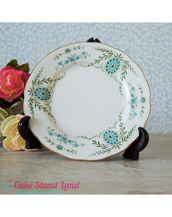 QUEEN ANNE BLUE/GREEN TEA PLATE