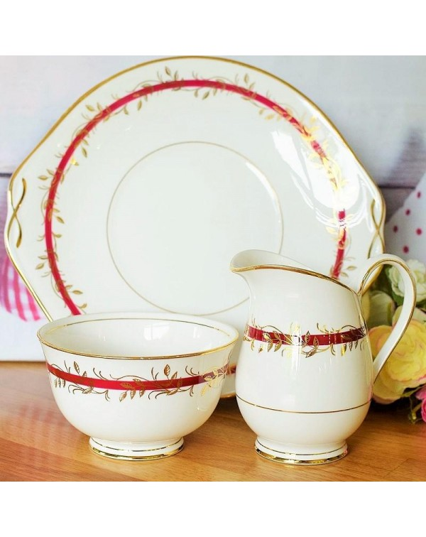 (OUT OF STOCK) QUEEN ANNE PRINCESS CAKE PLATE SET