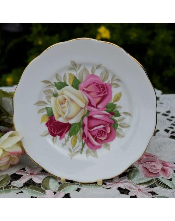 QUEEN ANNE ROSES TEA PLATE