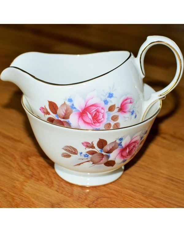 QUEEN ANNE MILK JUG & SUGAR BOWL