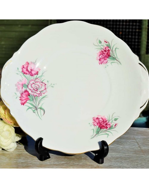 QUEEN ANNE CARNATION CAKE PLATE