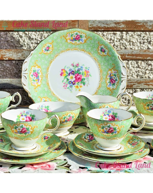 (OUT OF STOCK) QUEEN ANNE GAINSBOROUGH TEA SET