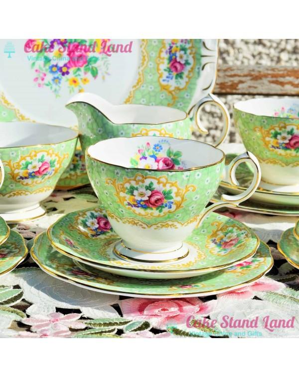 (OUT OF STOCK) QUEEN ANNE GAINSBOROUGH TEA TRIO