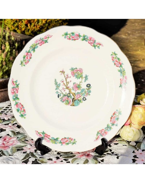 QUEEN CHARLOTTE CHINA INDIAN TREE DINNER PLATE
