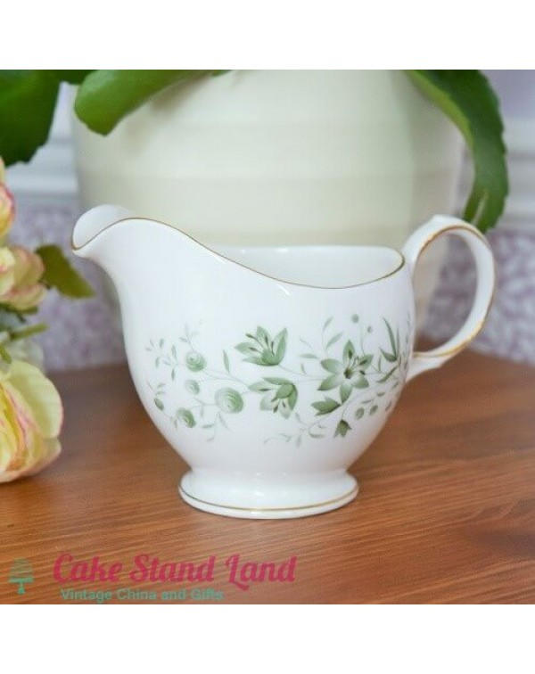QUEEN ANNE MILK JUG GREEN FLORAL