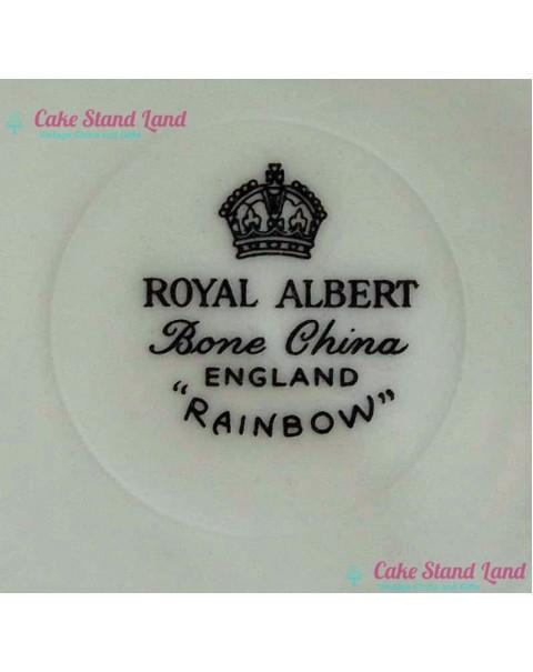 ROYAL ALBERT RAINBOW YELLOW SUGAR BOWL