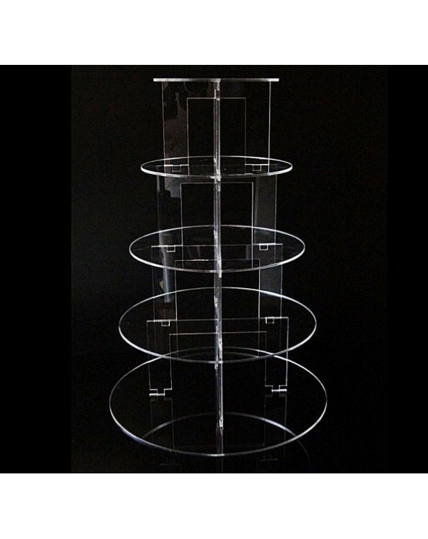 5 TIER ACRYLIC CAKE STAND