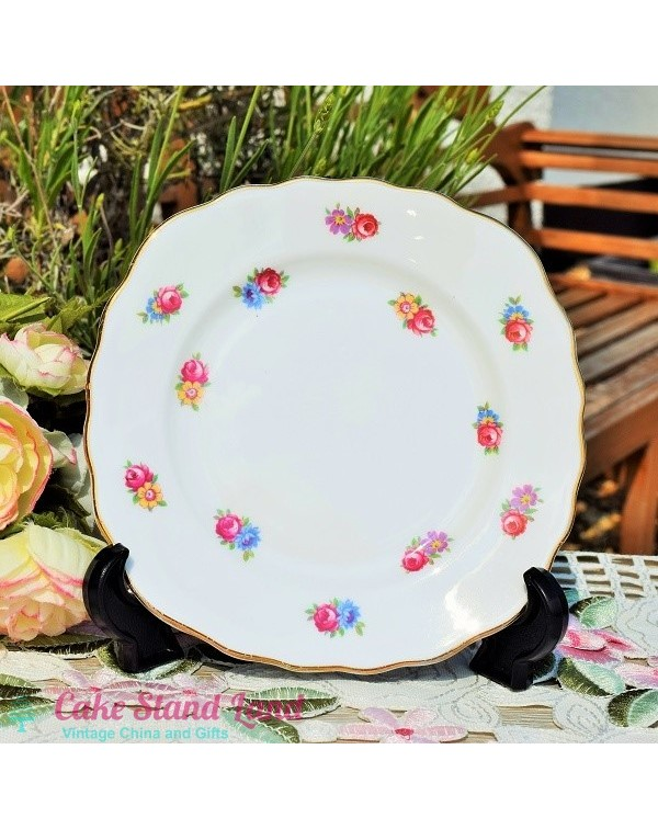 REGENT DITSY ROSE TEA PLATE