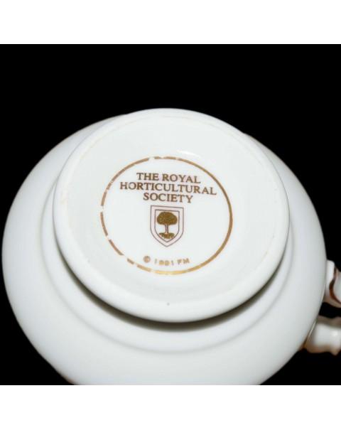 RHS FLORAL TEA TRIO DAMASK ROSE