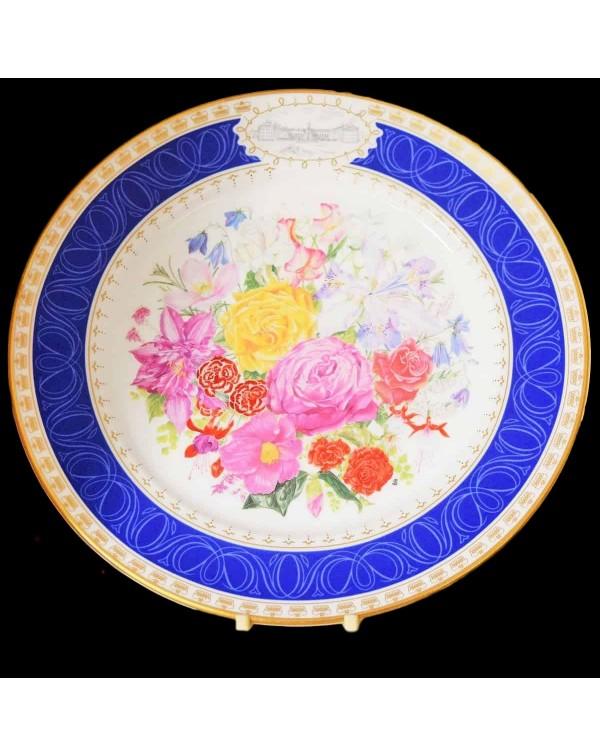 RHS QUEENS CHELSEA CORONATION BOUQUET PLATE