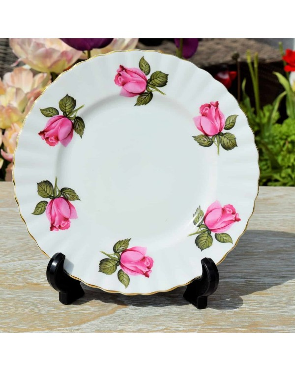 (OUT OF STOCK) RICHMOND PINK ROSE TEA PLATE