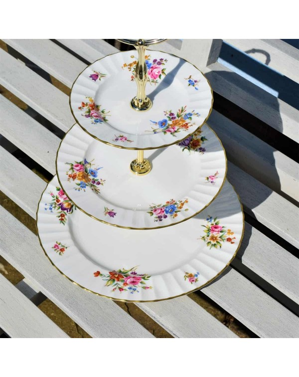 ROYAL WORCESTER ROANOKE 3 TIER CAKE STAND