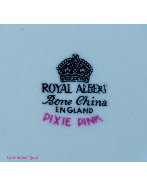 ROYAL ALBERT PIXIE PINK CAKE SET