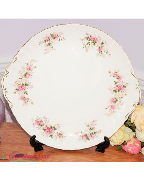 (OUT OF STOCK) ROYAL ALBERT LAVENDER ROSE CAKE PLATE EXTRA LARGE