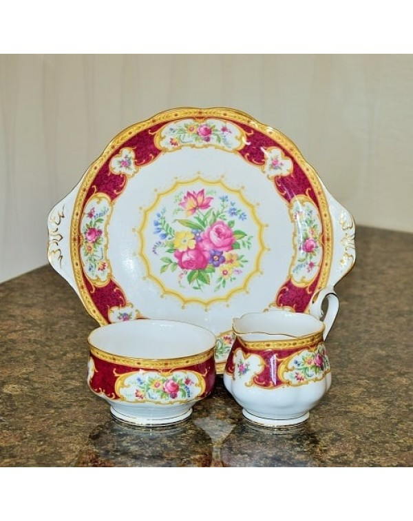 (OUT OF STOCK) ROYAL ALBERT LADY HAMILTON CAKE PLA...