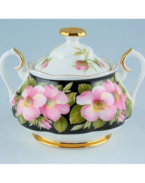 (OUT OF STOCK) ROYAL ALBERT PROVINCIAL FLOWERS SUGAR BOWL
