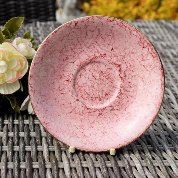 ROYAL ALBERT GOSSAMER PINK TEA SAUCER
