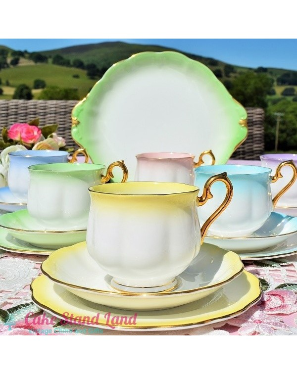 (OUT OF STOCK) ROYAL ALBERT RAINBOW  TEA SET