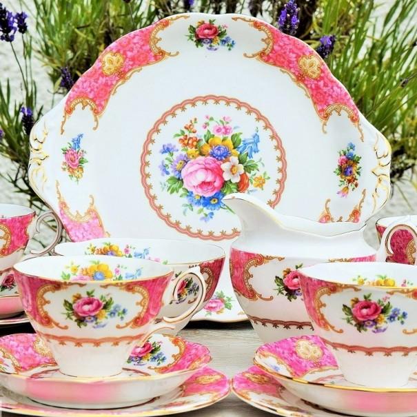 ROYAL ALBERT LADY CARLYLE TEA SET