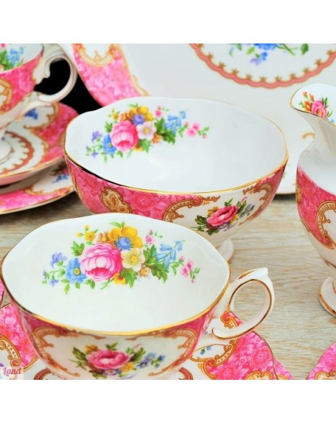 ROYAL ALBERT LADY CARLYLE TEA SET