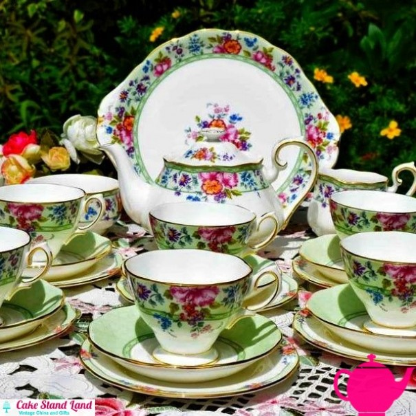 (SOLD) ROYAL ALBERT HARTINGTON LANE COMPLETE TEA SET