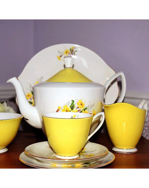 (OUT OF STOCK) ROYAL ALBERT PRIMROSE TEA SET &...