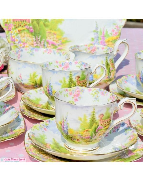 (SOLD) ROYAL ALBERT KENTISH ROCKERY TEA SET