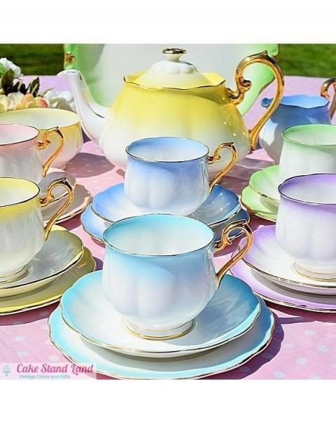 (OUT OF STOCK) ROYAL ALBERT RAINBOW TEA SET WITH TEAPOT