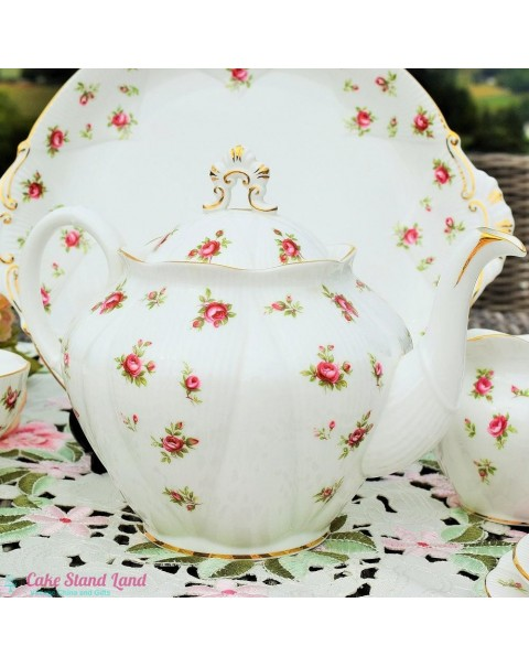 (OUT OF STOCK) ROYAL ALBERT ROSEBUD TEA SET & TEAPOT
