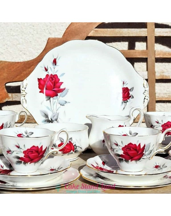 (OUT OF STOCK) ROYAL ALBERT SWEET ROMANCE TEA SET