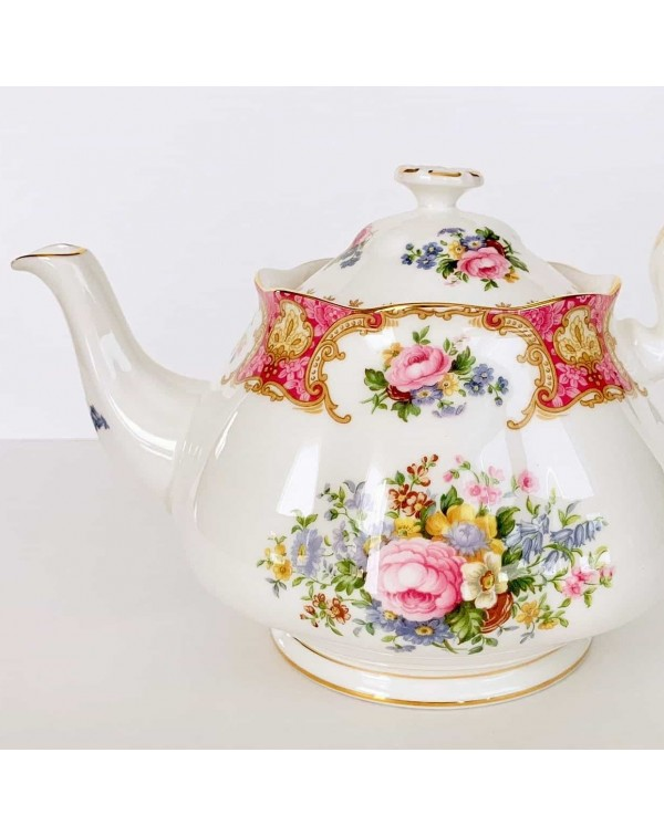 (SOLD) ROYAL ALBERT LADY CARLYLE TEAPOT