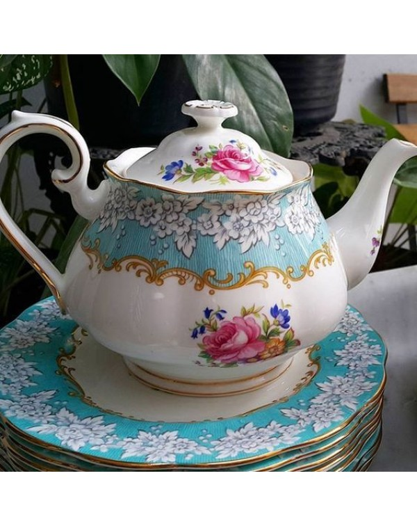 (SOLD) ROYAL ALBERT ENCHANTMENT LARGE TEAPOT