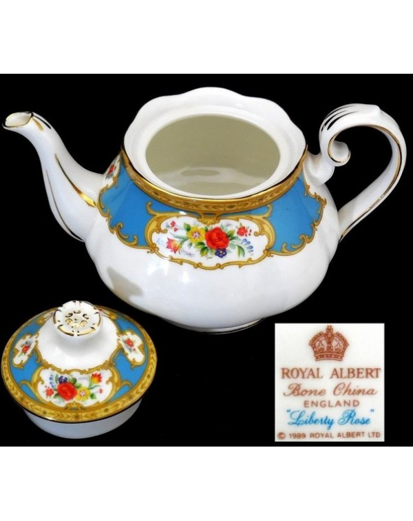 (OUT OF STOCK) ROYAL ALBERT LIBERTY ROSE TEAPOT