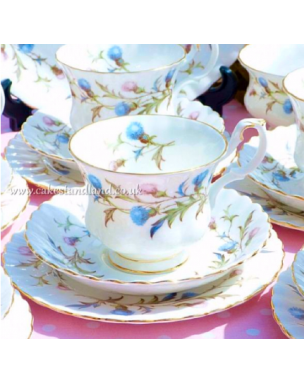 ROYAL ALBERT BRIGADOON TEA TRIO