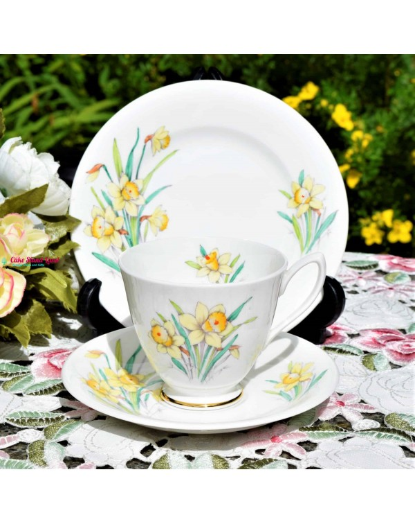 ROYAL ALBERT DAFFODIL TEA TRIO