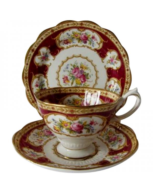(OUT OF STOCK) ROYAL ALBERT LADY HAMILTON TEA TRIO