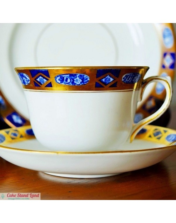 ROYAL ALBERT GILDED TEA TRIO