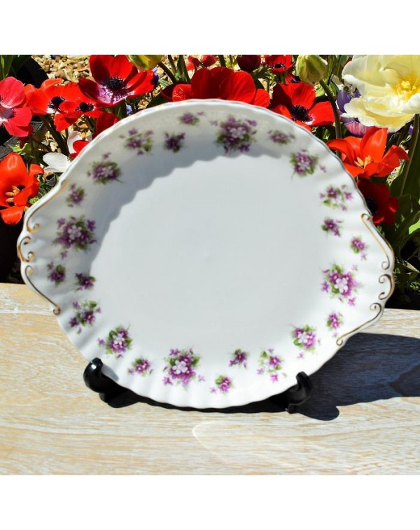 (OUT OF STOCK) ROYAL ALBERT SWEET VIOLETS CAKE PLA...