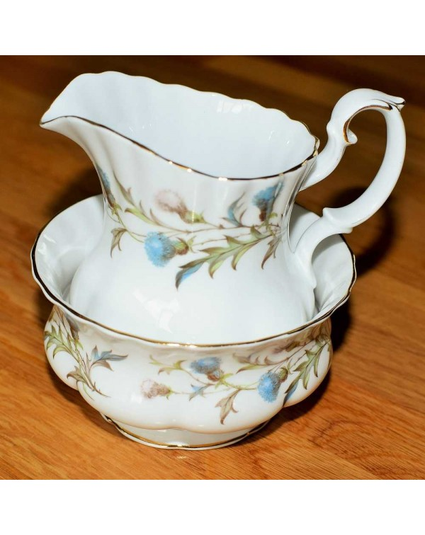 ROYAL ALBERT BRIGADOON MILK JUG & SUGAR BOWL