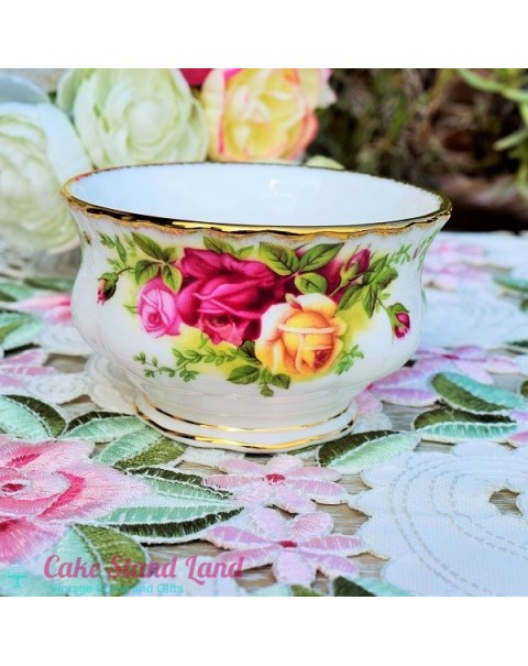 OLD COUNTRY ROSES COFFEE SUGAR BOWL